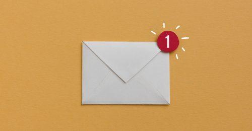 Nieuwsbrief in email inbox